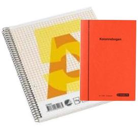 Papirblokke og bøger