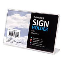 Visitkort, skilte og holdere