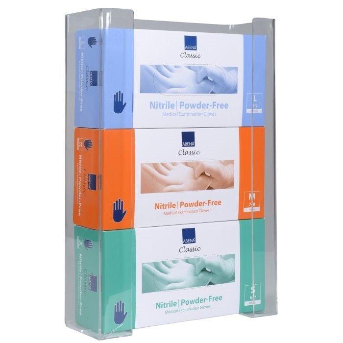 Image of Abena handskestativ, transparent akryl, til 3 pakker engangshandsker