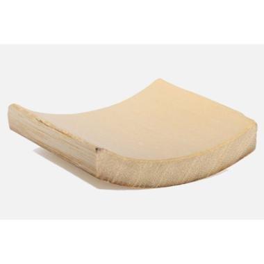 Image of Bambusfade mini, firkantet og let buet, 55x55 mm, 100 stk.