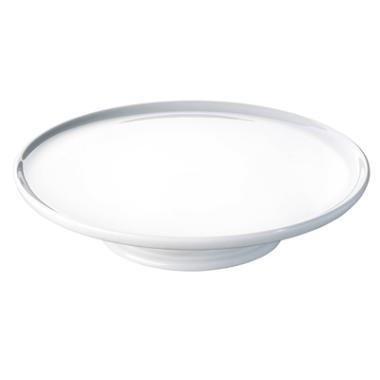 Lagkagefad Pillivuyt, hvid porcelæn, Ø30 cm