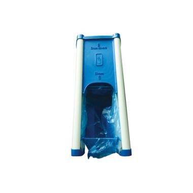 Image of Dispenser til skoovertræk, blå, 55x23x18,5 cm, inkl. 50 skoovertræk