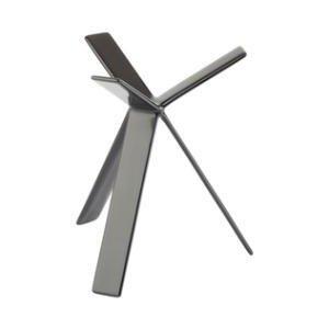 Image of Buffet stander, gummibelagt sort metal, H18 cm