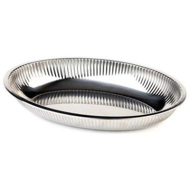 Image of Brødbakke, oval, rustfrit stål, 26,5x18,5 cm