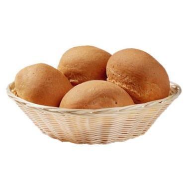 Image of Brødkurv, rund, lys brun/beige plastflet, Ø20 cm