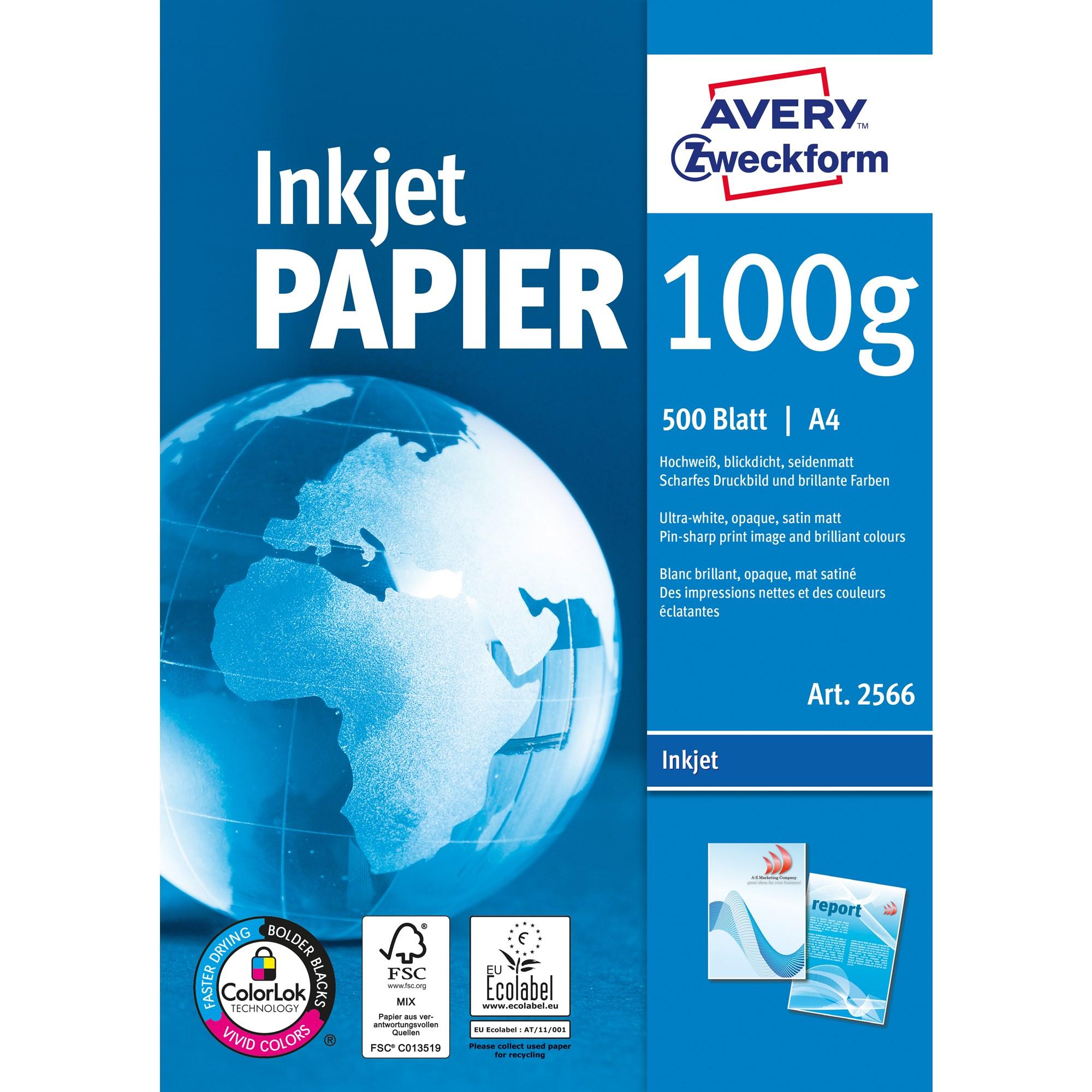Image of A4 Avery inkjet papir 100g (500)