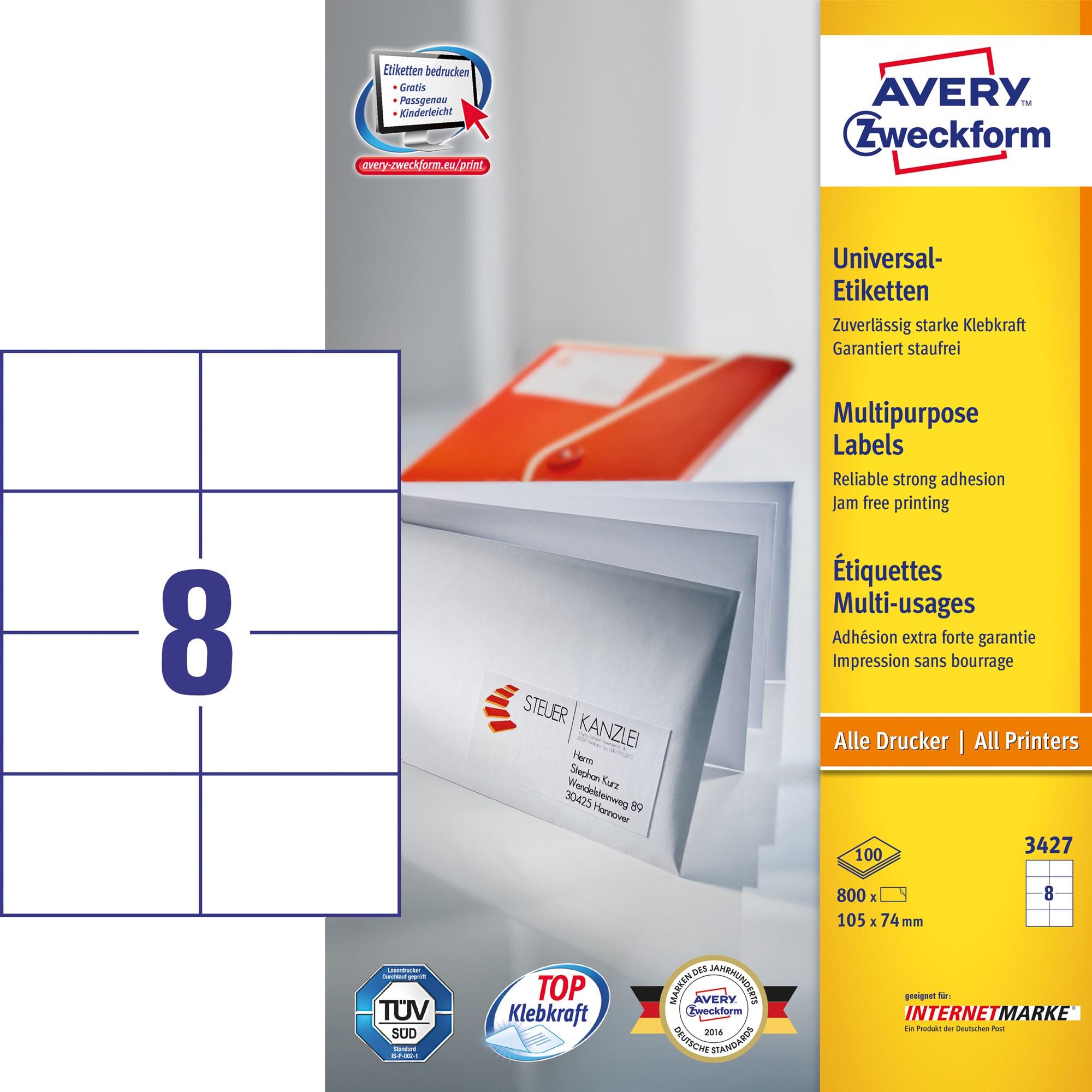 Image of Avery ILC universal etiket 105x74mm (800)