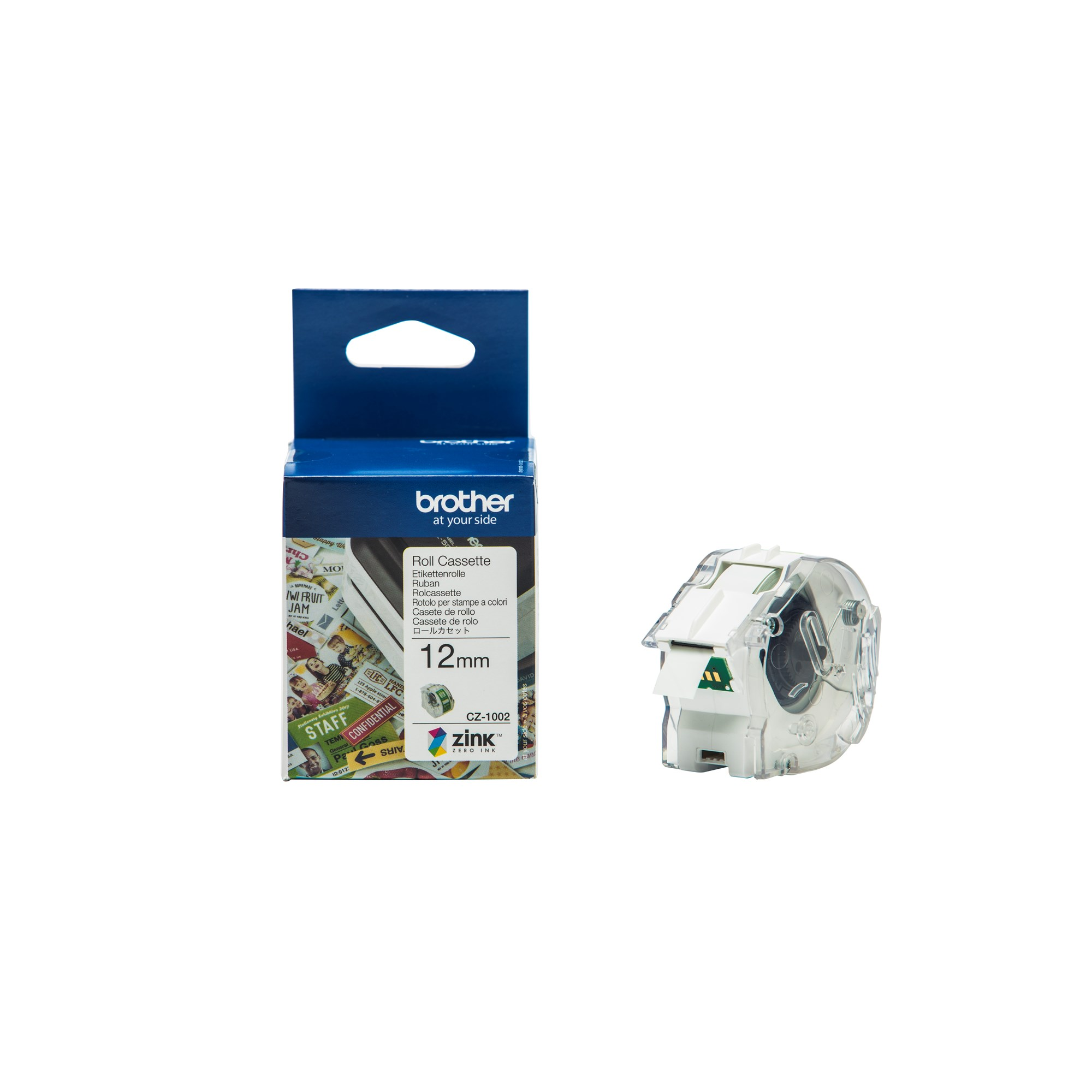 Image of   Brother CZ-1002 tape white 12mm x 5m