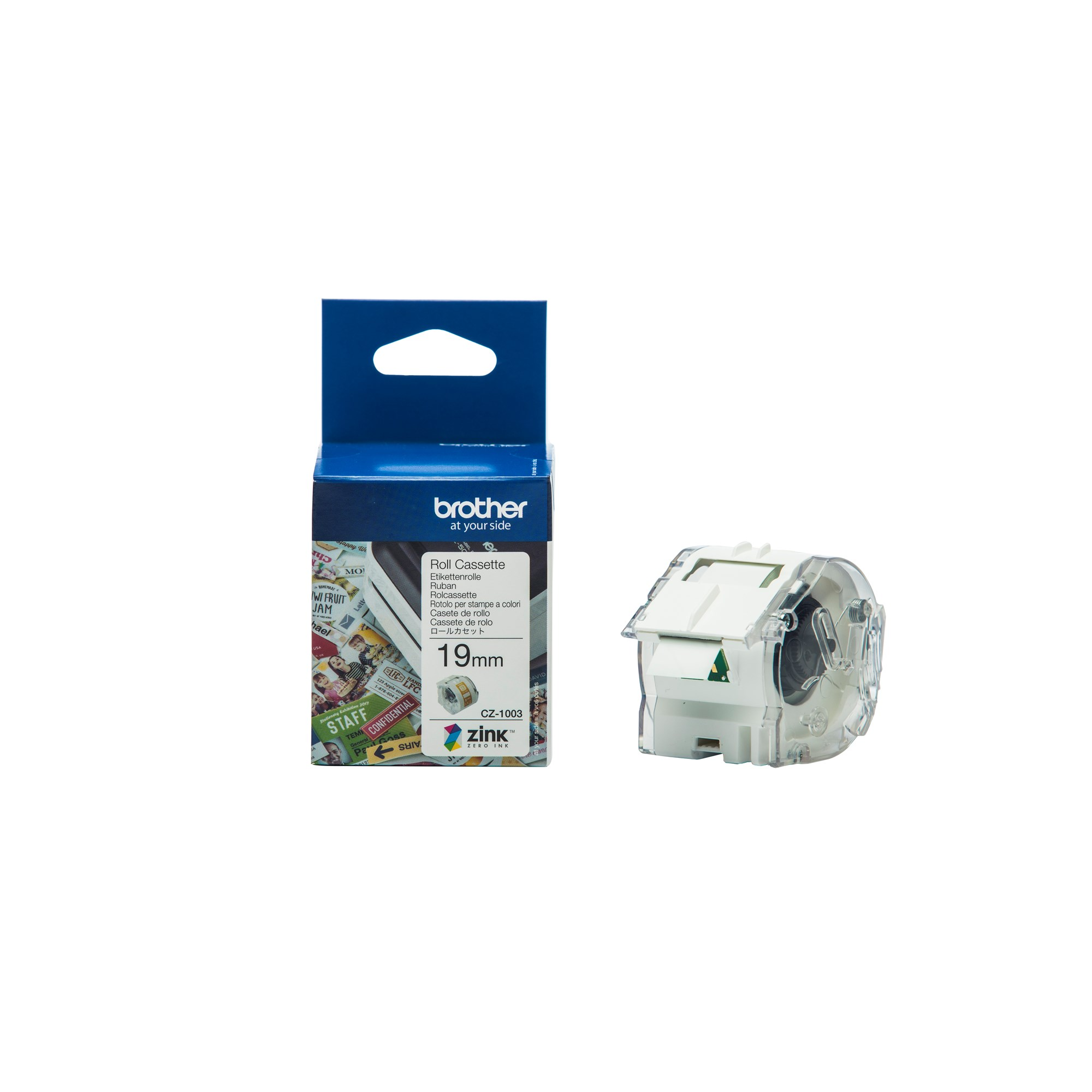 Image of   Brother CZ-1003 tape white 19mm x 5m