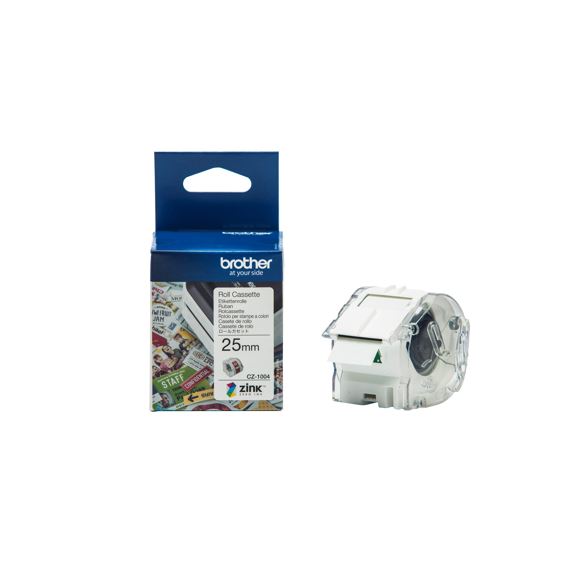 Image of   Brother CZ-1004 tape white 25mm x 5m