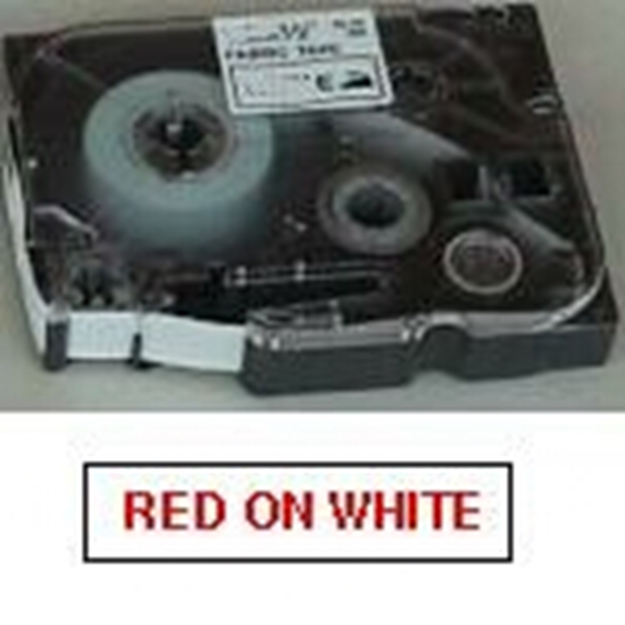 Image of   Brother TZe tape 18mmx8m red/white