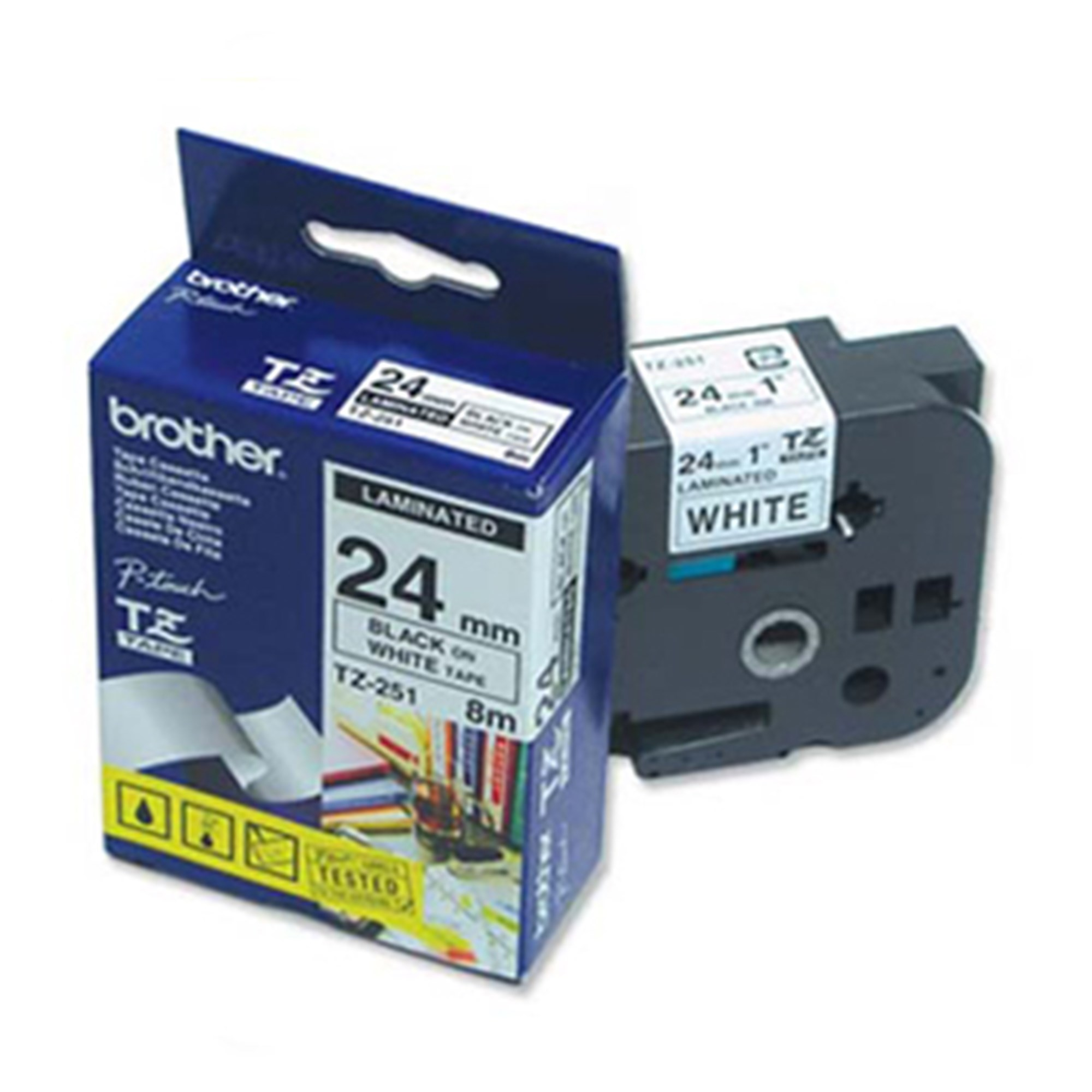 Image of   Brother TZe tape 24mmx8m black/white