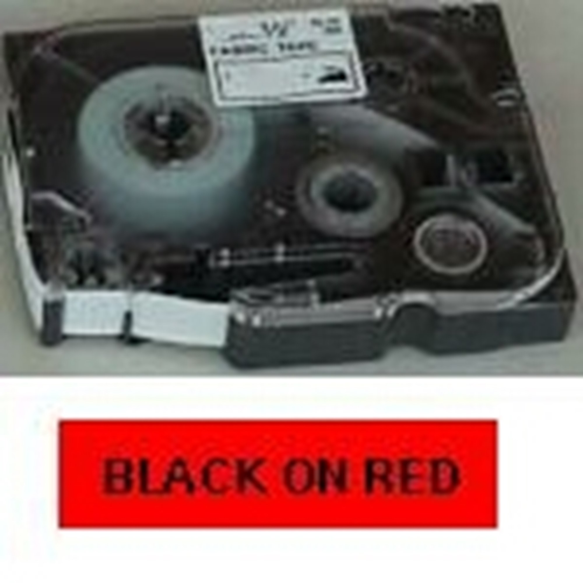 Image of   Brother TZe tape 18mmx8m black/red