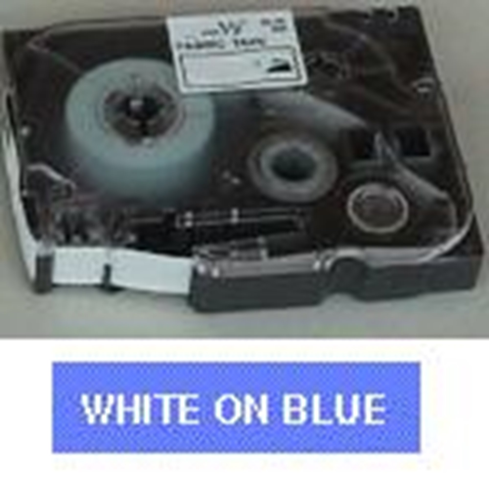 Image of   Brother TZe tape 24mmx8m white/blue