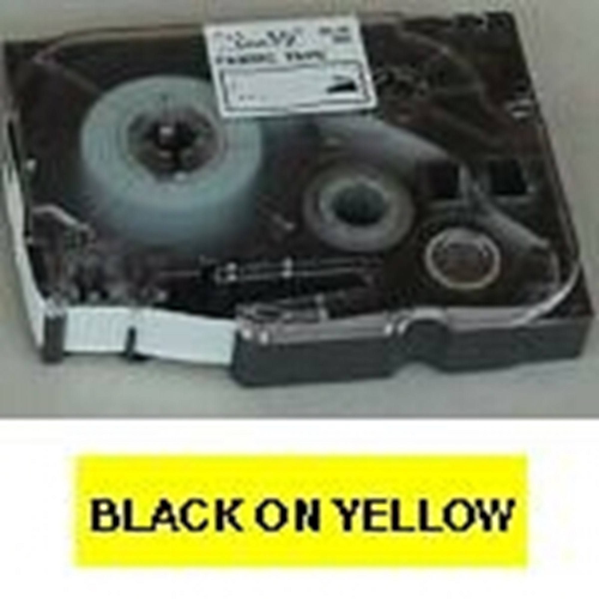 Image of   Brother TZe tape 6mmx8m black/yellow