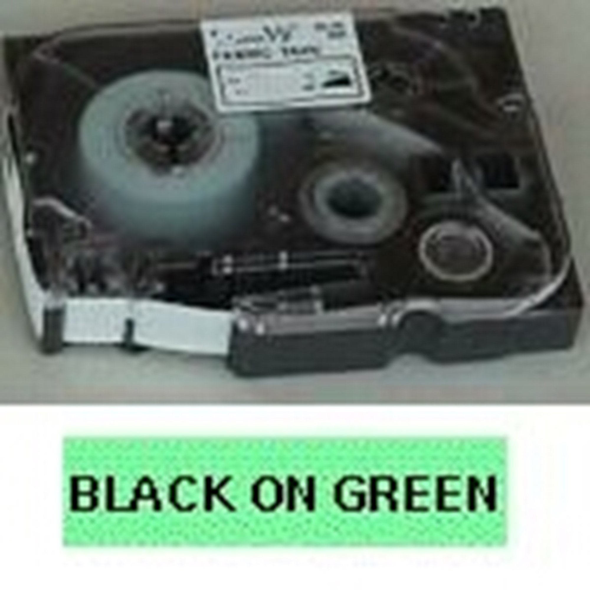 Image of   Brother TZe tape 12mmx8m black/green
