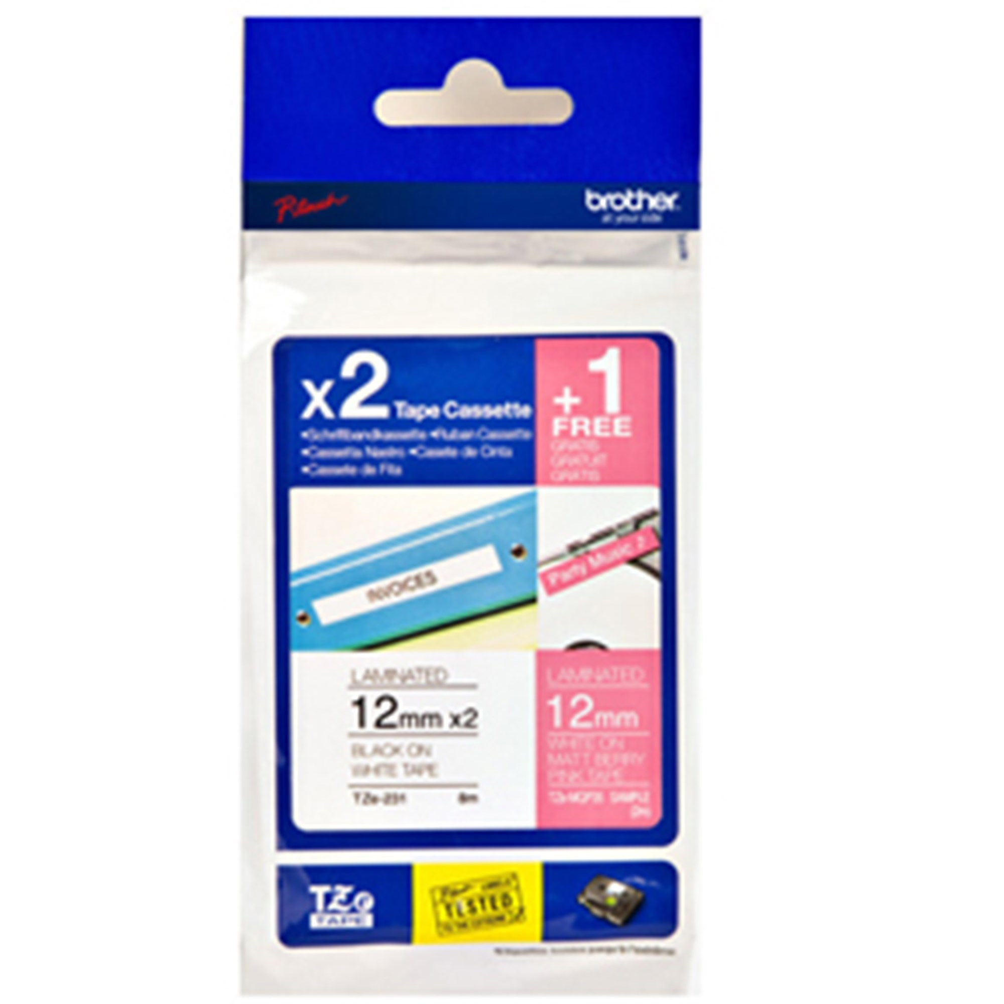 Image of   Brother TZe tape M3 Multipack