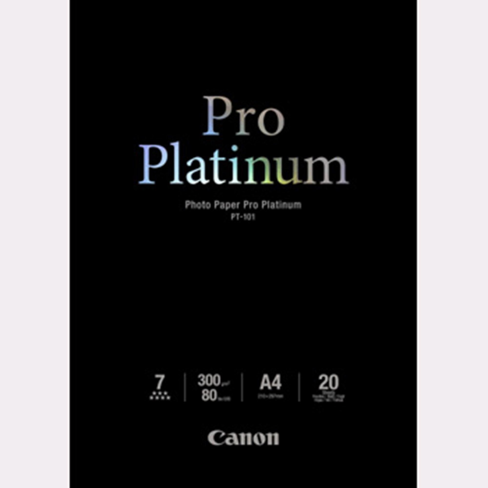 Image of   A4 Photo Paper Pro Platinum 300g (20)