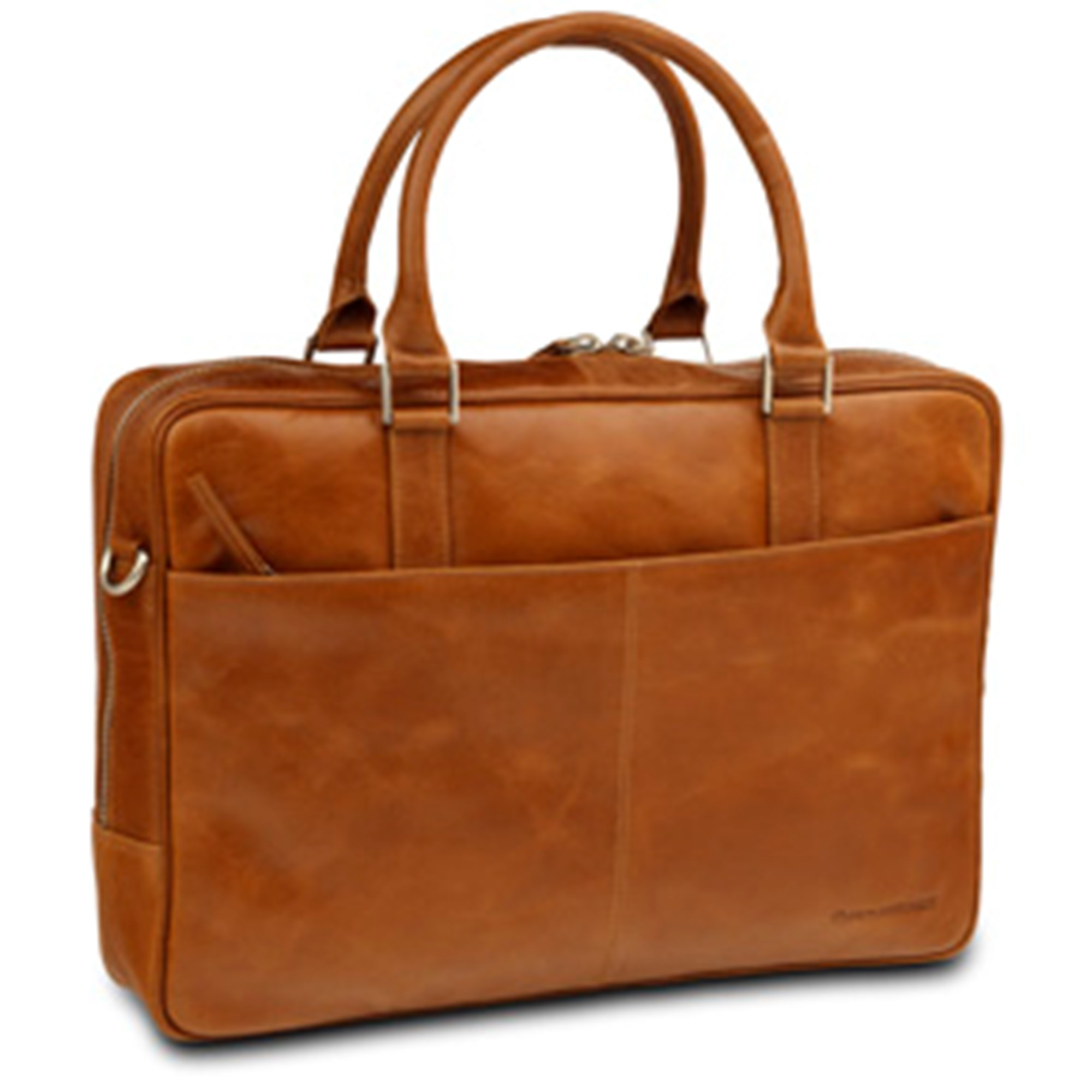 Image of   16'' Business Bag Rosenborg, Golden Tan