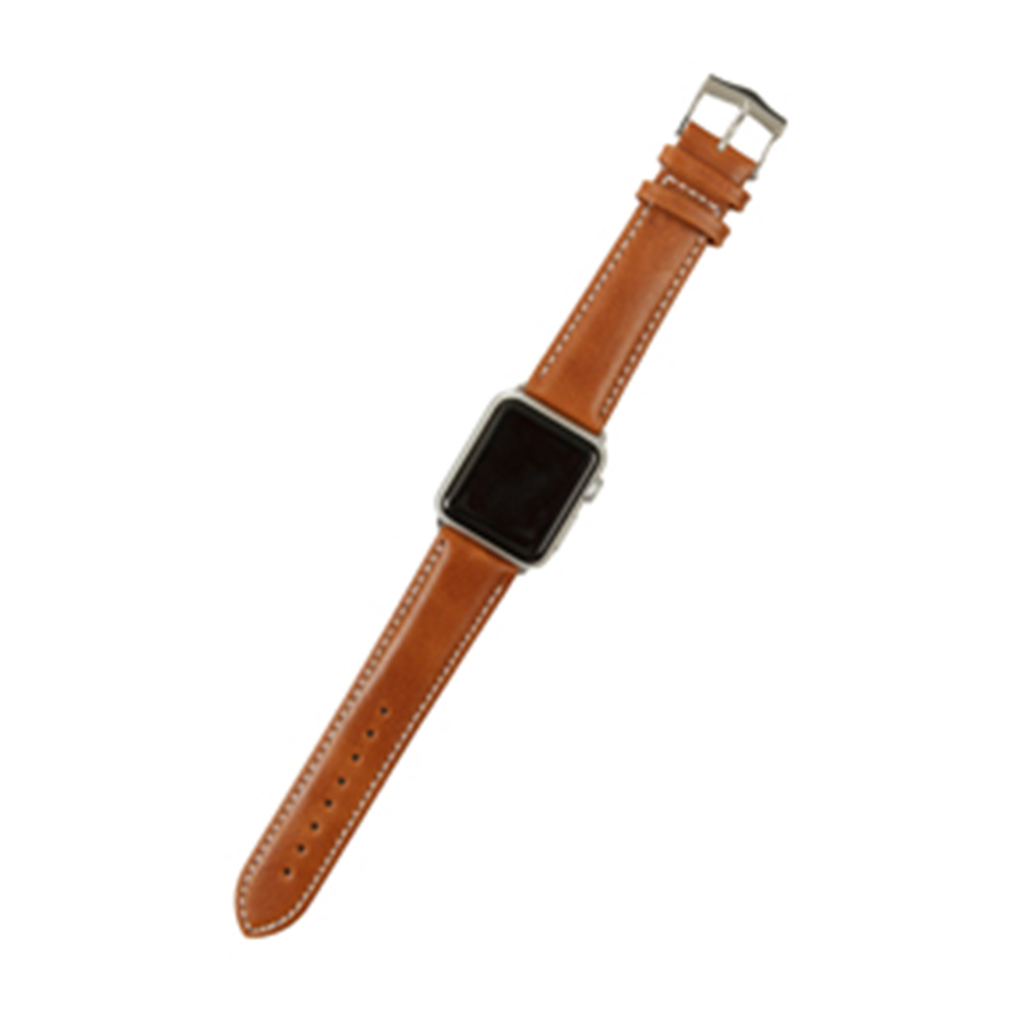 Image of 38mm Watch Strap Copenhagen, Silver Tan/Hunter/Black