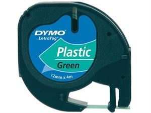 Image of   Tape DYMO LT plast 12mmx4m grøn