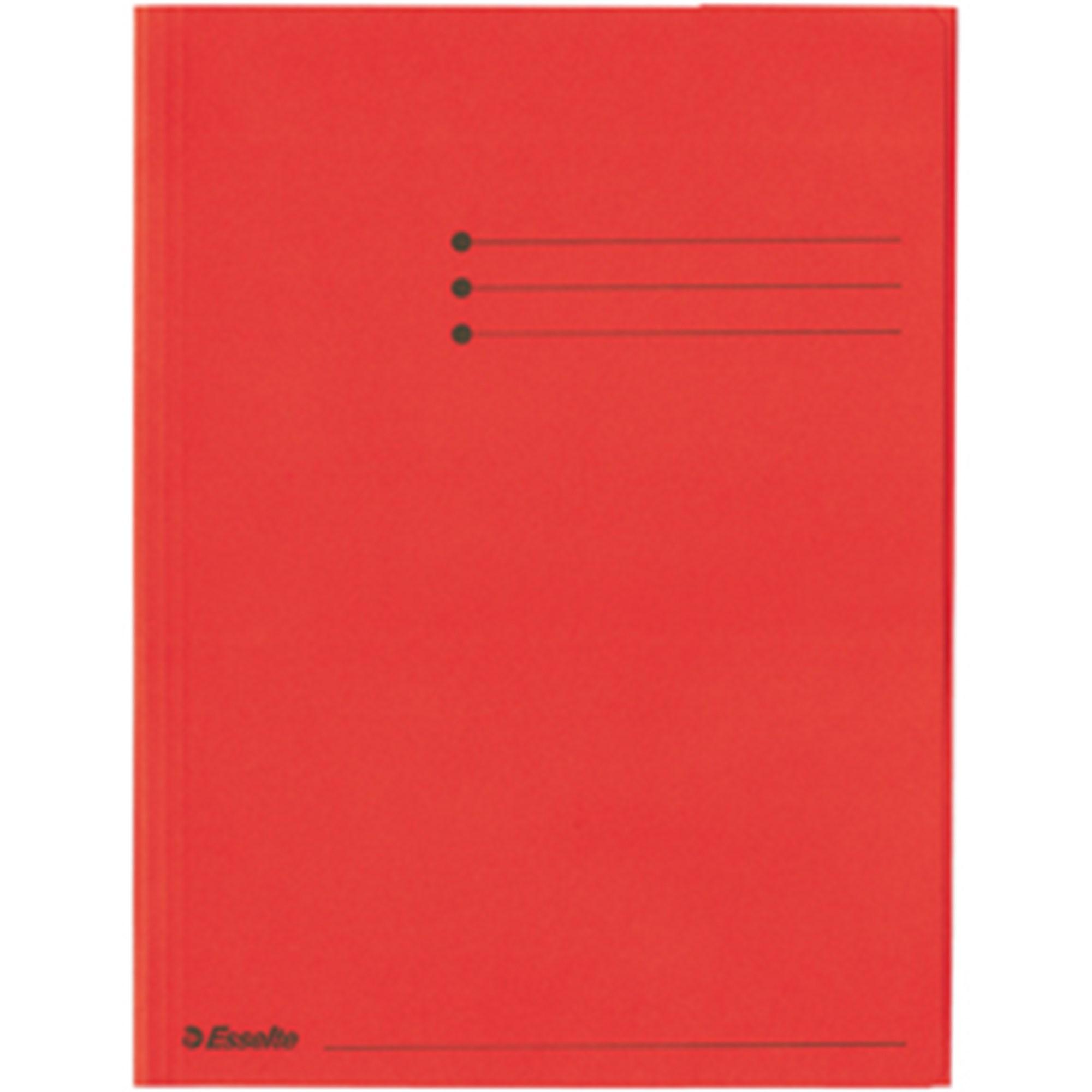 Image of   3-klap mappe Rainbow karton A4 rød