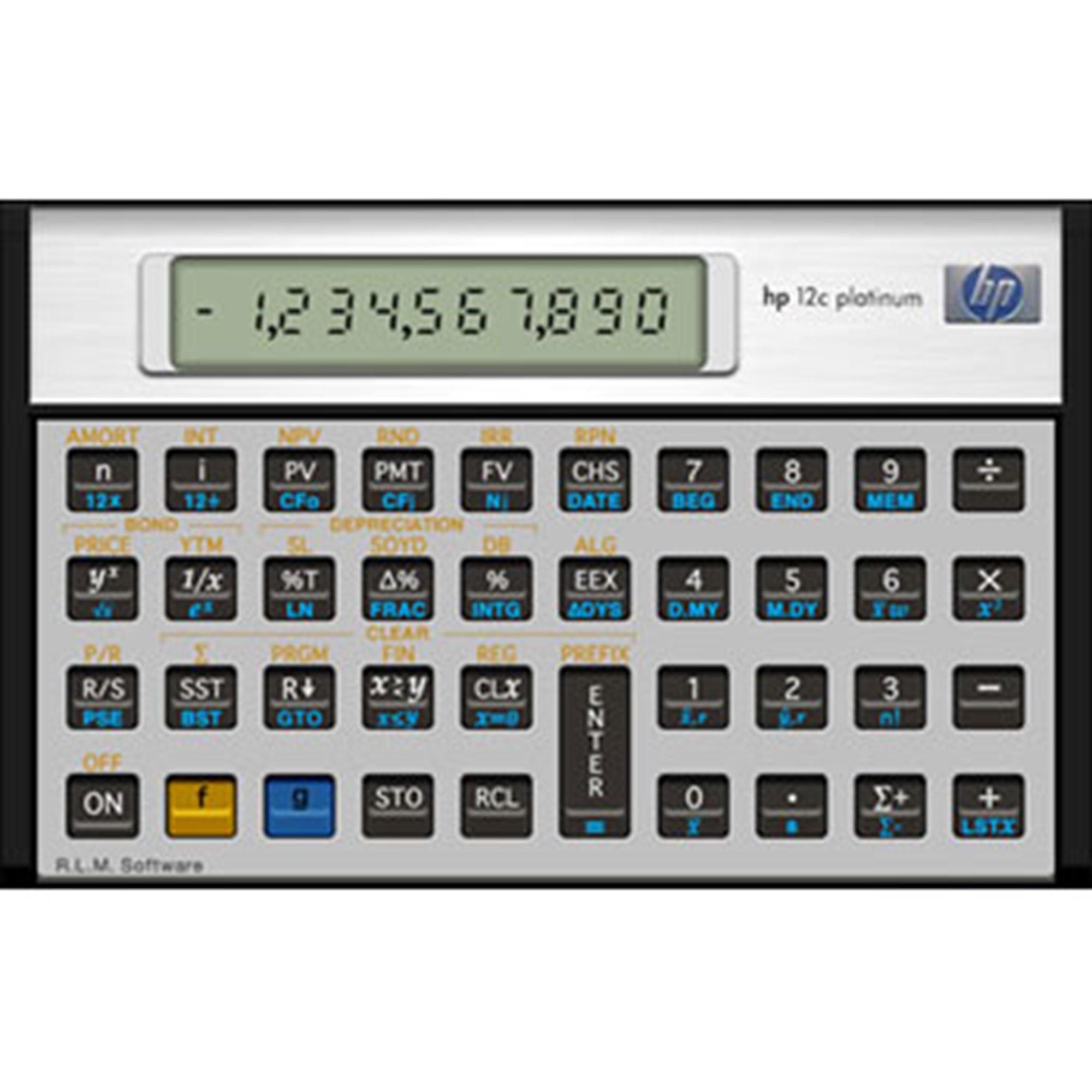 Image of   HP12CPL financial calc. Platinum (Nordic)
