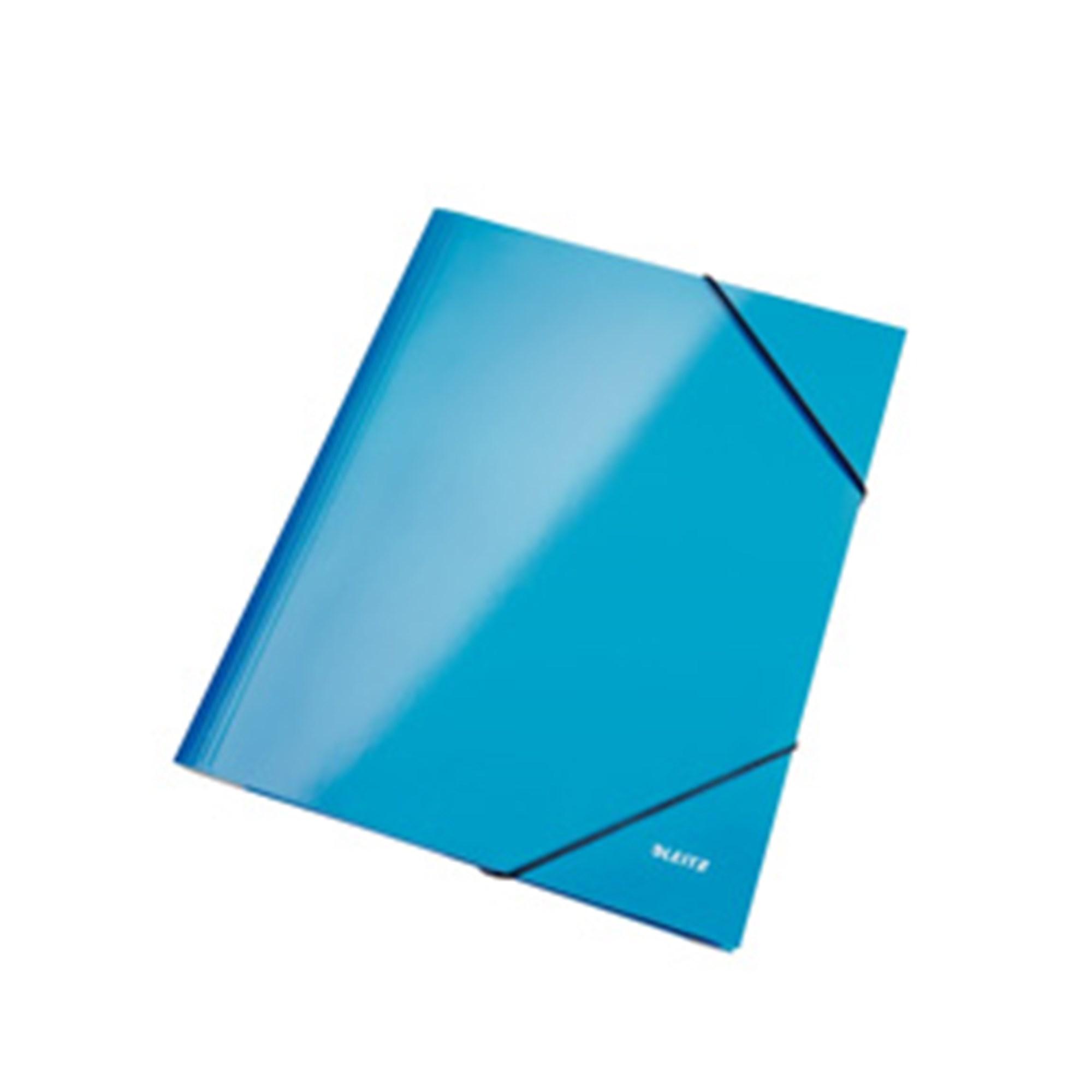 Image of 3-klap elastikmappe WOW A4 blå - LTZ39820036