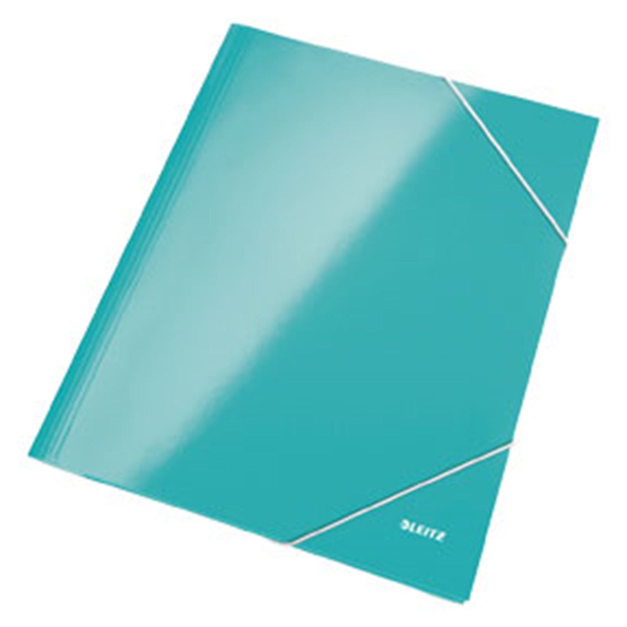 Image of   3-klap elastikmappe WOW A4 isblå