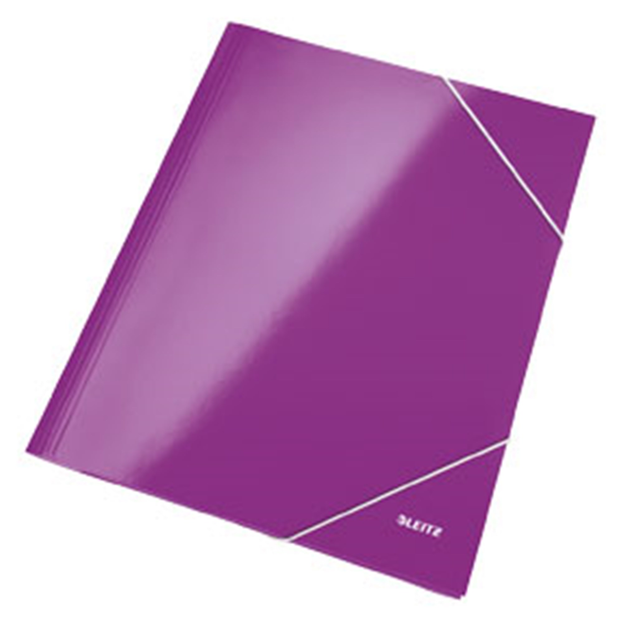 Image of   3-klap elastikmappe WOW A4 lilla