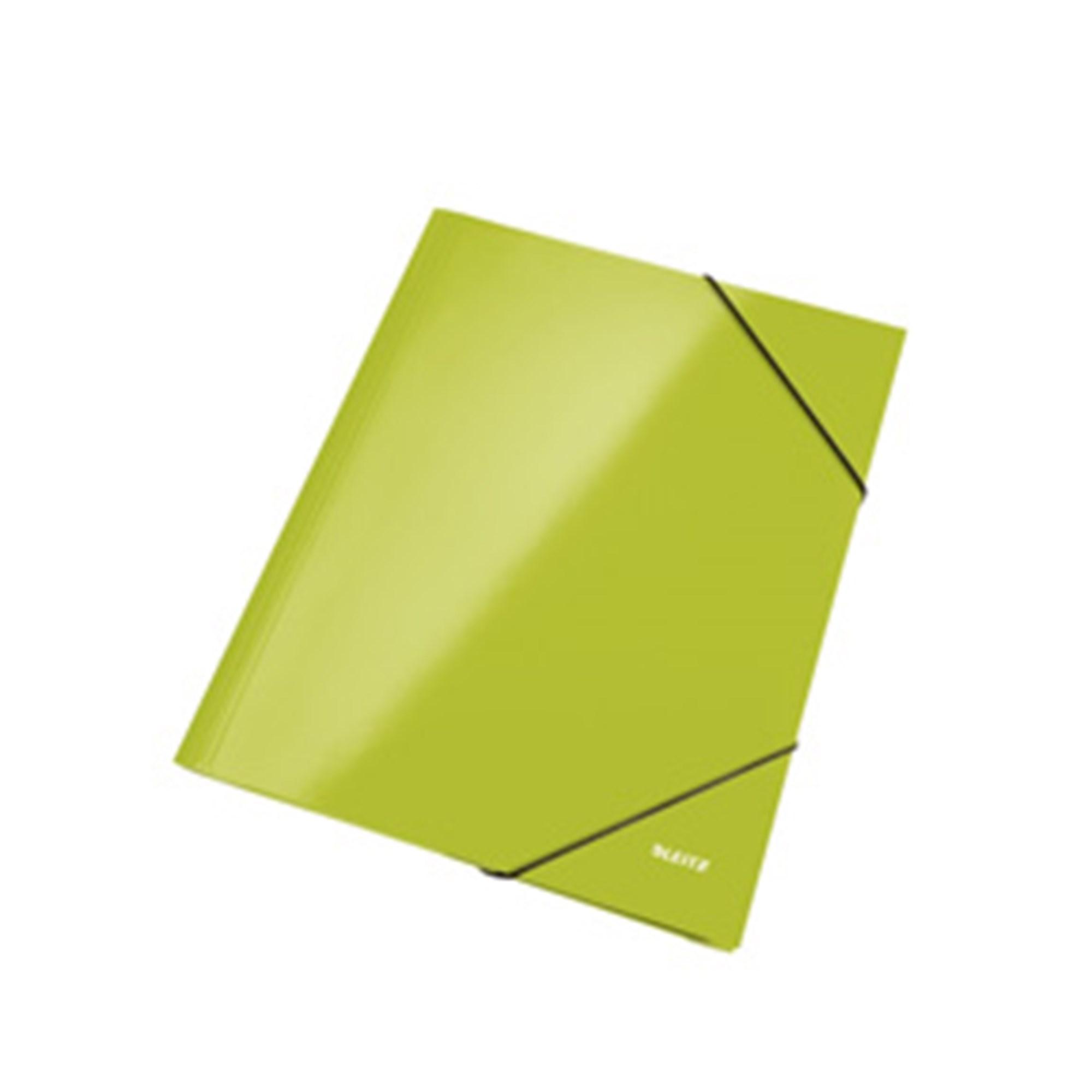 Image of   3-klap elastikmappe WOW A4 grøn