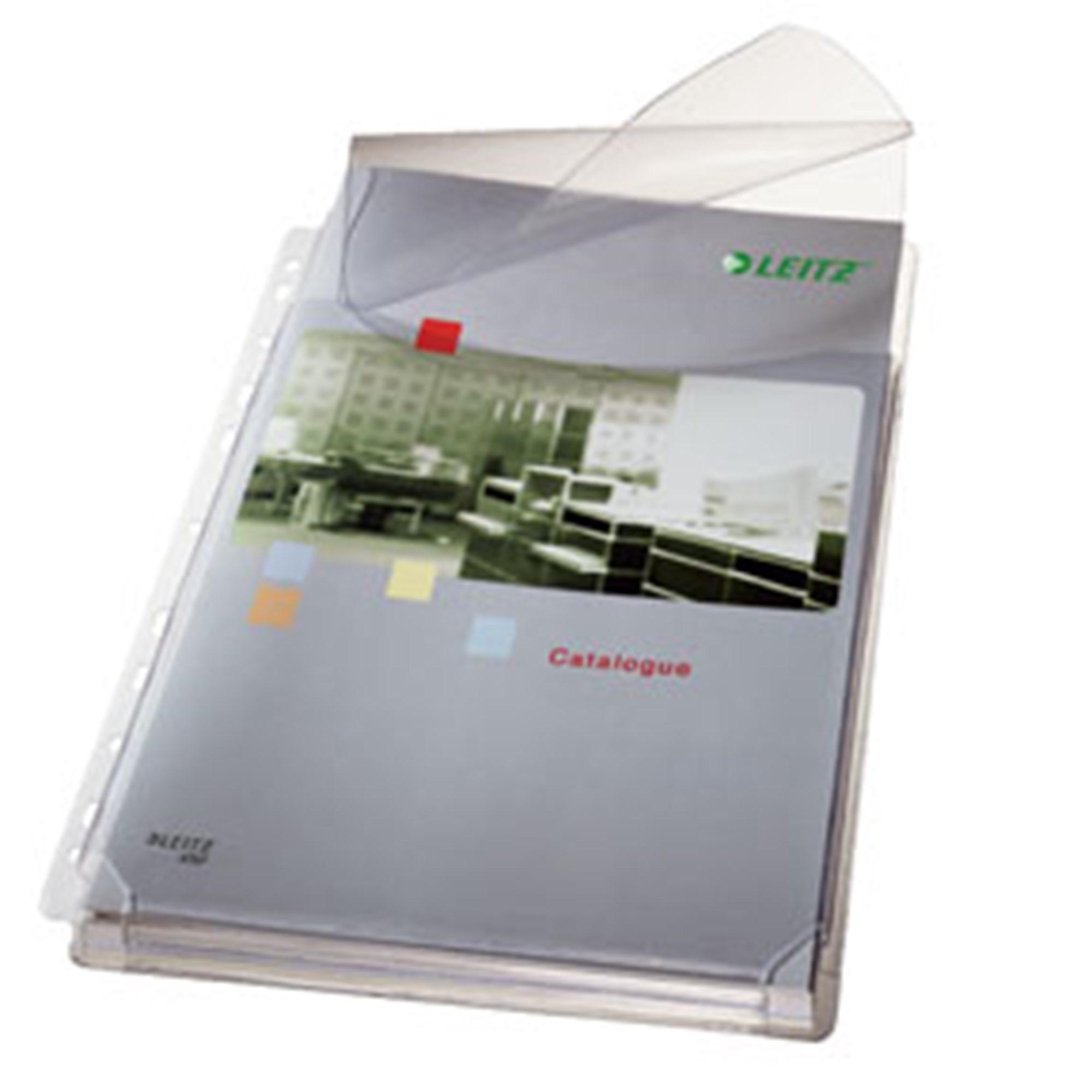 Billede af Leitz, Kataloglom m/klap 170my PVC prægA4 T≈(5)