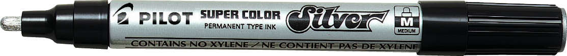 Image of   Marker Super Color Medium 4,5mm sølv