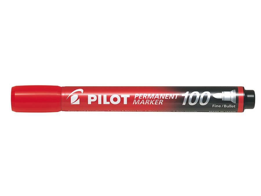 Image of   Marker Permanent 100 rund rød