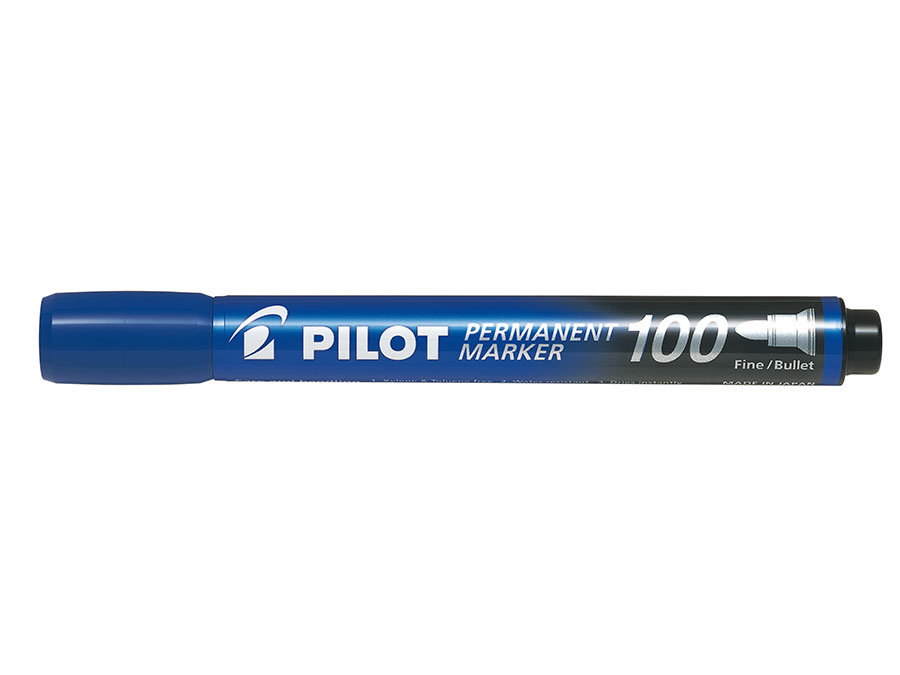 Image of   Marker Permanent 100 rund blå - PLT511110