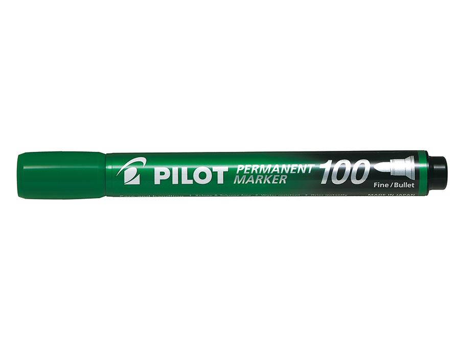 Image of   Marker Permanent 100 rund grøn