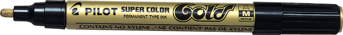 Image of   Marker Super Color Medium 4,5mm guld