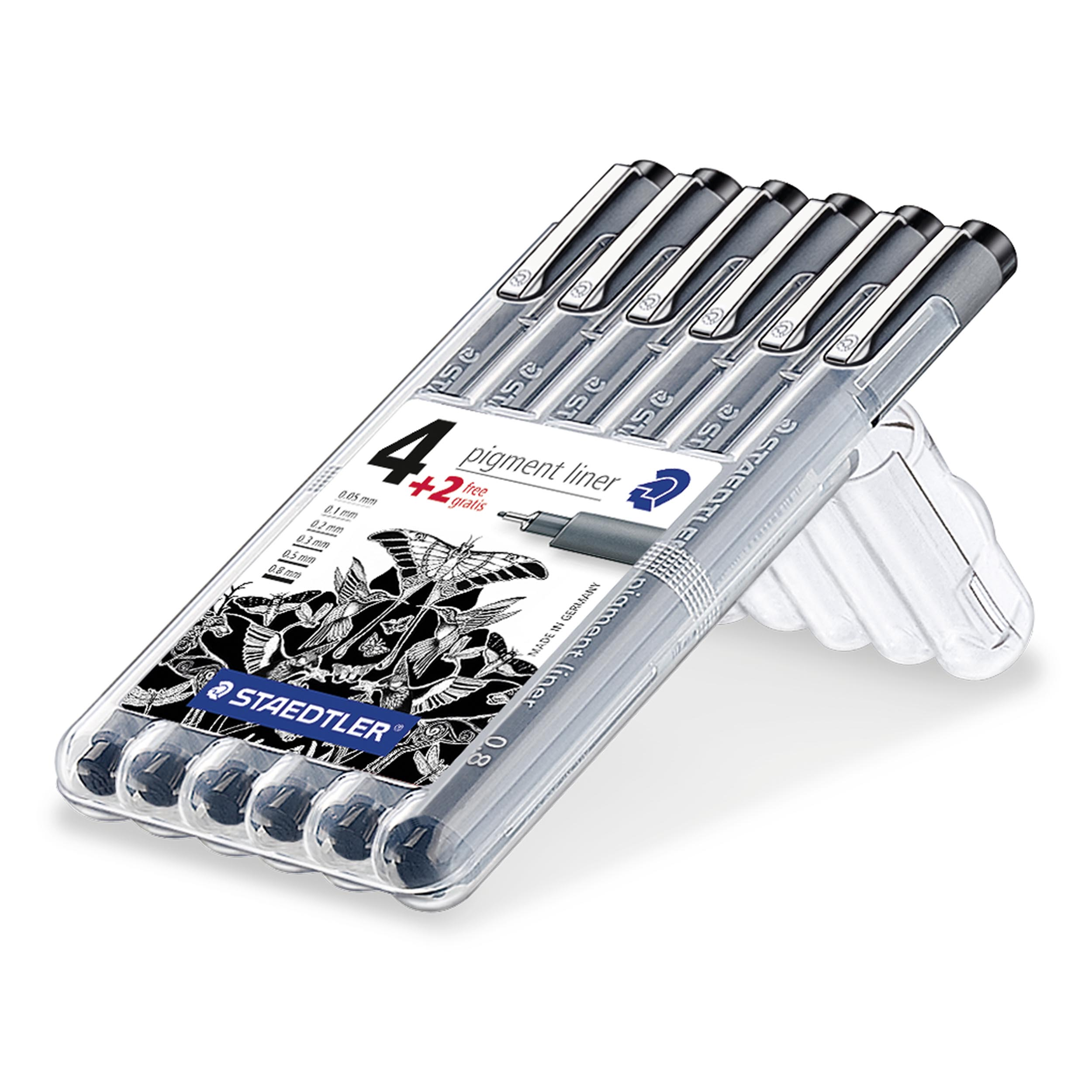 Image of   Fineliner pigment liner ass sort (6) - STA308SB6P