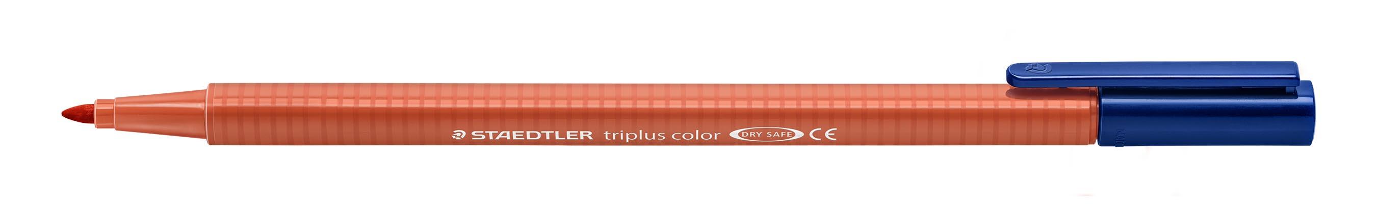 Image of   Fiberpen Triplus Color 1,0mm skarl. rød