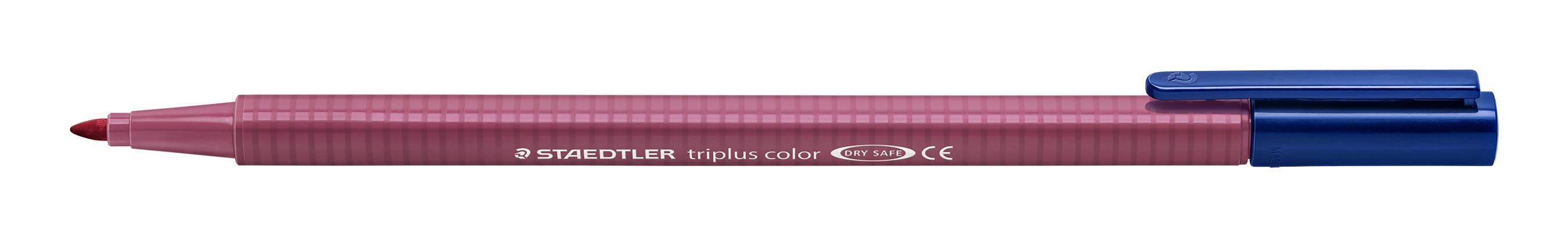 Image of   Fiberpen Triplus Color 1,0mm tuscan rød
