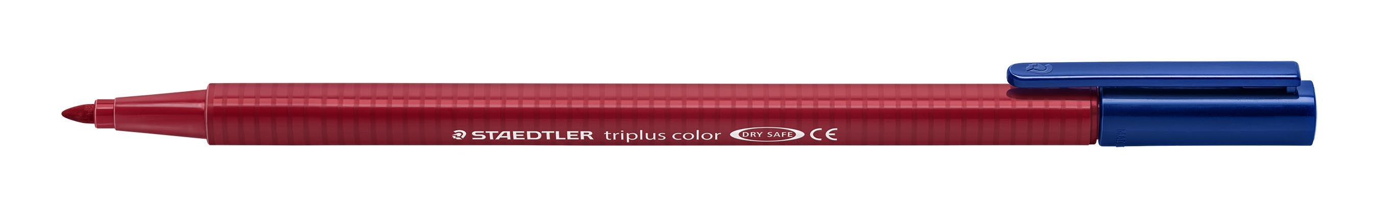 Image of   Fiberpen Triplus Color 1,0mm carmine rød