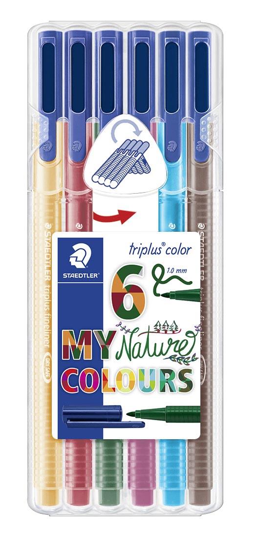 Image of   Fiberpen Triplus Color 1,0mm Nature ass (6)