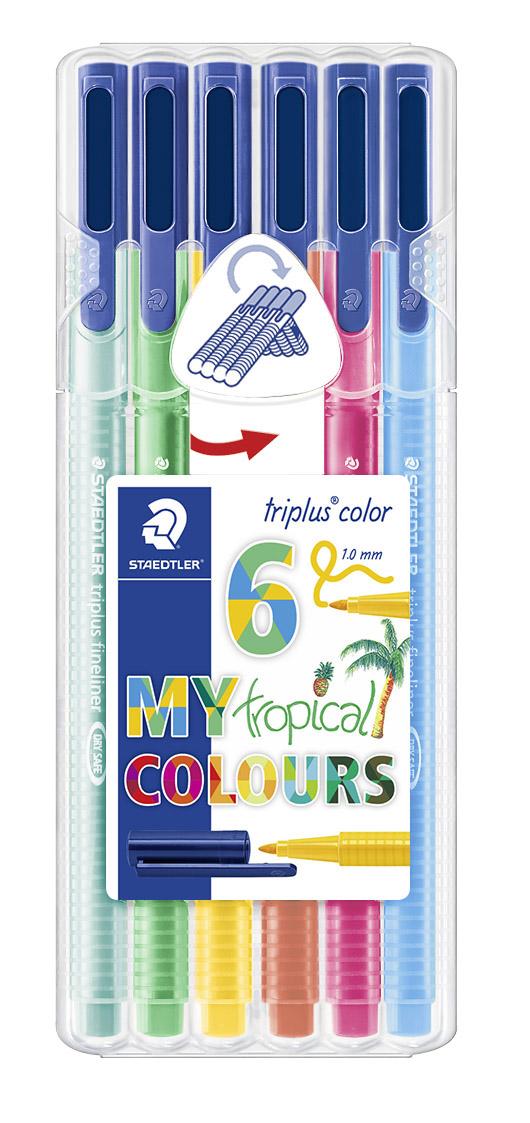 Image of   Fiberpen Triplus Color 1,0mm Tropical ass (6)