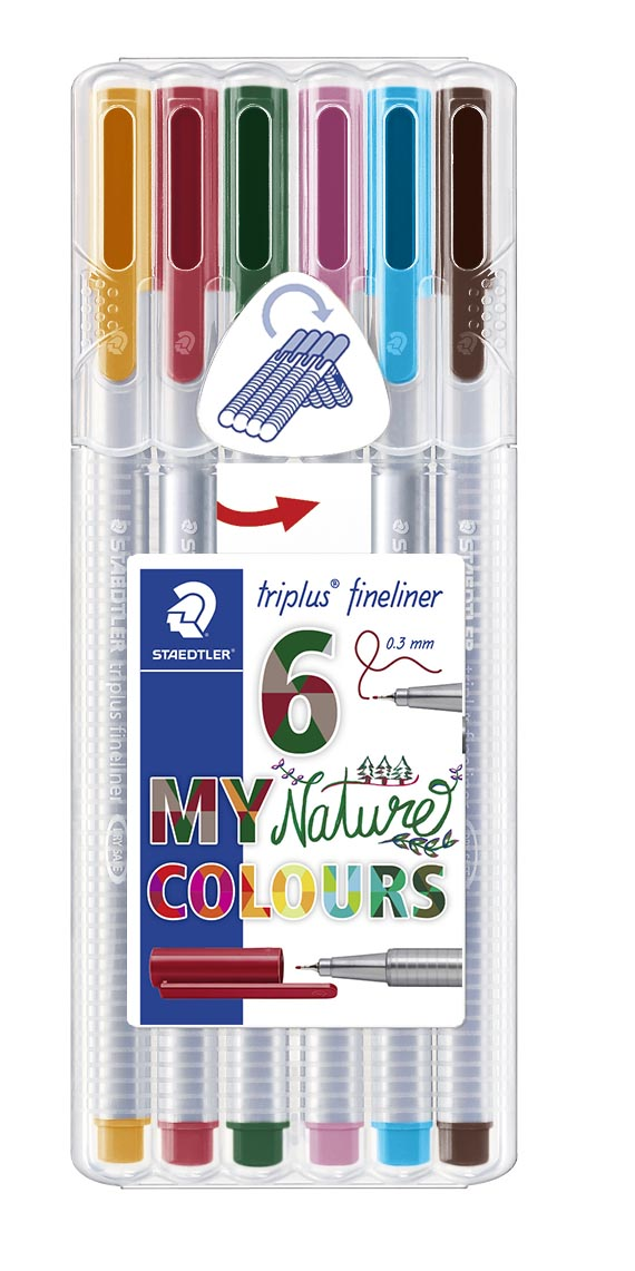 Image of   Fineliner Triplus 0,3mm Nature ass(6) - STA334SB6CS2