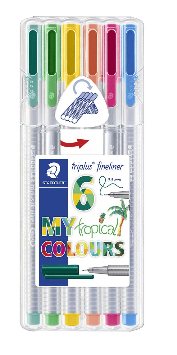 Image of   Fineliner Triplus 0,3mm Tropical ass (6)