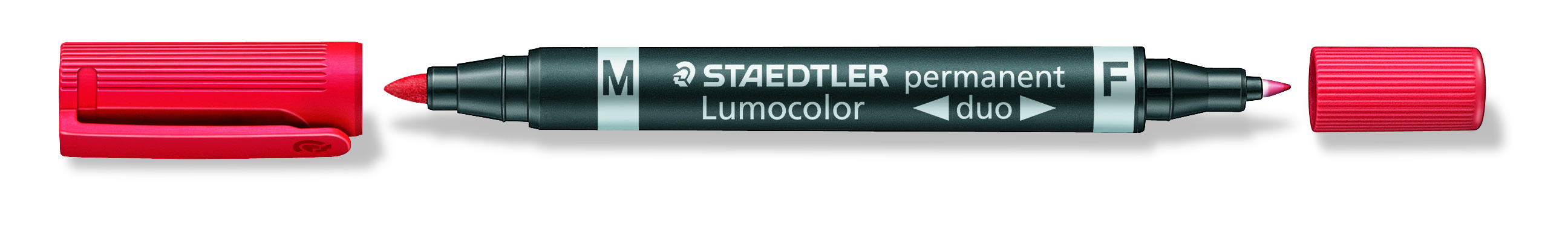 Image of   Marker Lumocolor Duo Perm 0,6-1,5mm rød