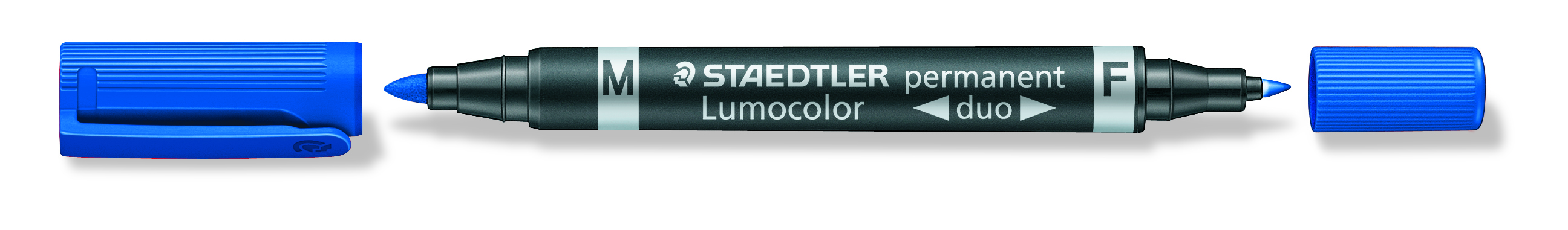 Image of   Marker Lumocolor Duo Perm 0,6-1,5mm blå