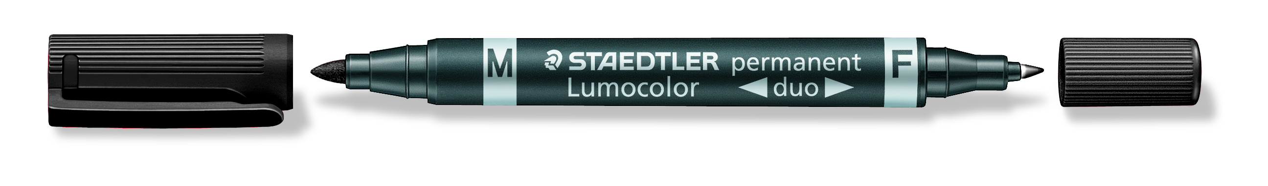 Image of   Marker Lumocolor Duo Perm 0,6-1,5mm sort