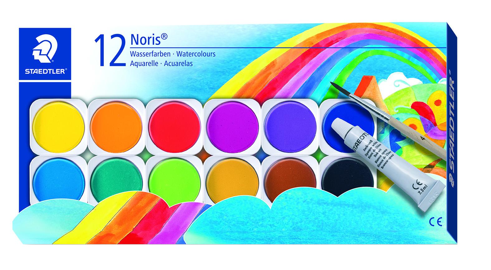 Staedtler Vandfarver M/pensel 12 Ass Farver