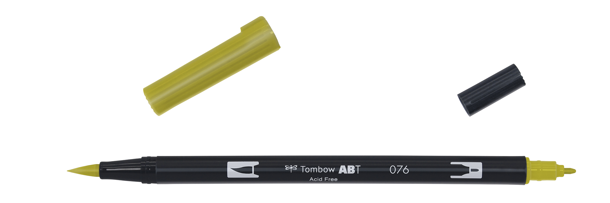 Image of   Marker Tombow ABT Dual Brush 076 green ochre